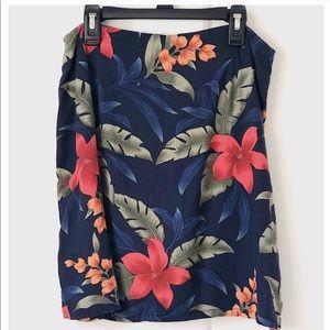 Vintage Tropical Floral Skort